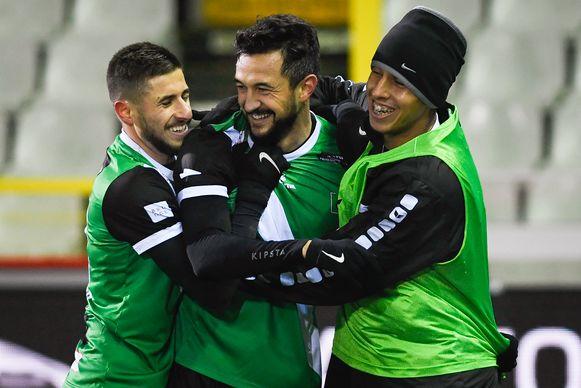 Hector Rodas (midden) met enkele ploegmaats.