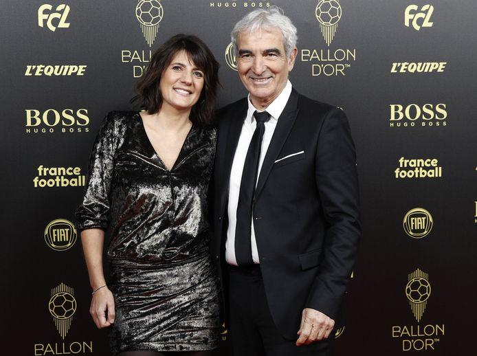 Raymond Domenech et sa compagne Denis Estelle