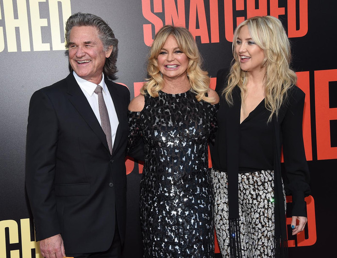 Kurt Russell, Goldie Hawn et Kate Hudson
