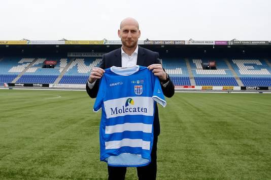 Jaap Stam, de nieuwe coach van PEC Zwolle.