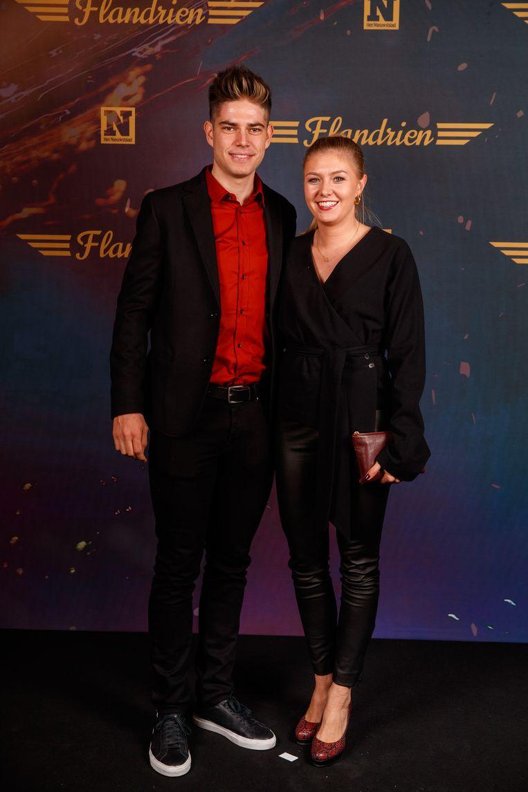 Wout van Aert en zijn vrouw Sarah De Bie.