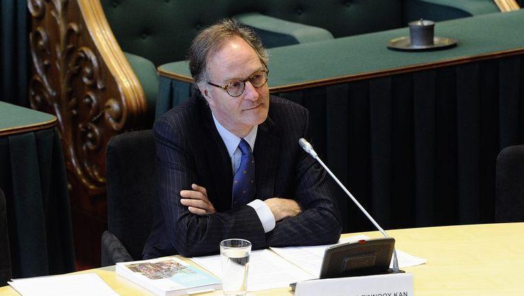 SER-voorzitter Alexander Rinnooy Kan in gesprek met de onderzoekscommissie van de Eerste Kamer, in juni. De senatoren onderzochten de verzelfstandiging en privatisering van overheidsdiensten in de afgelopen 20 jaar. Beeld ANP