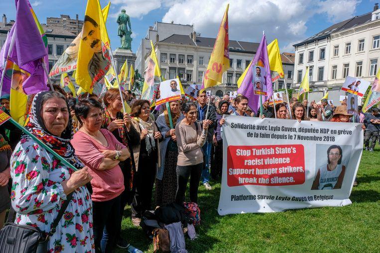 Protest van Koerden op Europaplein