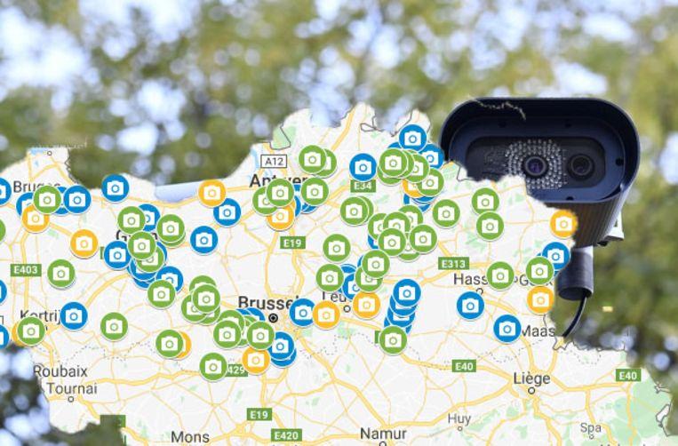 121 nieuwe trajectcontroles in Vlaanderen.