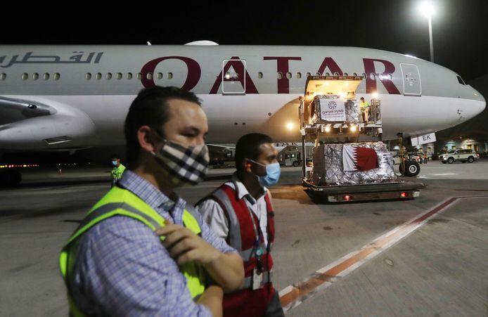 Het internationale vliegveld van Doha.