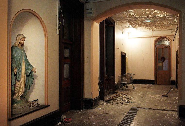 Het interieur van een in onbruik geraakte Magdalene Laundry in Dublin. Beeld ap