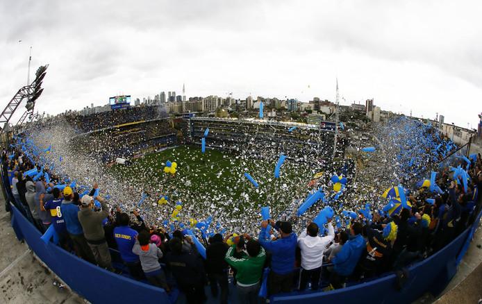 Archieffoto: Boca-fans zorgen voor sfeer tijdens een derby tegen River.