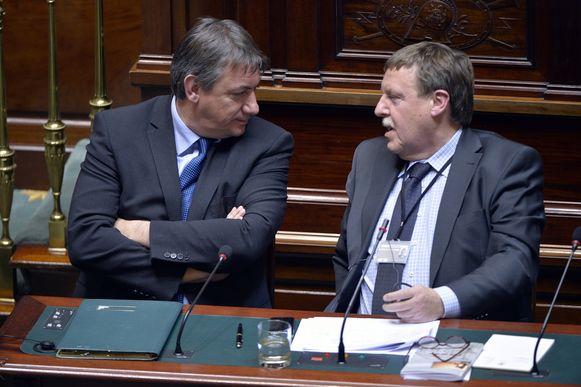 Minister Jan Jambon en Kamervoorzitter Bracke.