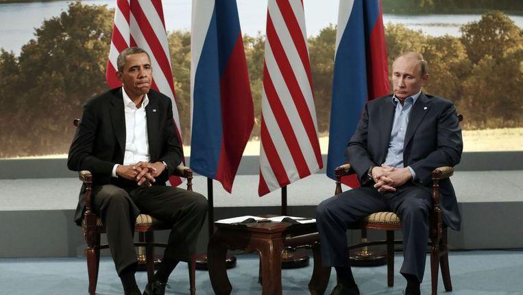 Barack Obama en Vladimir Poetin hebben elkaar eerder dit jaar nog wel gesproken in Belfast Beeld reuters