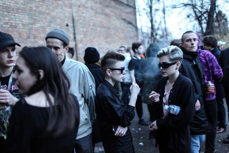 De raveparty Schema in Kiev. Beeld Oleksandr Techynskyi