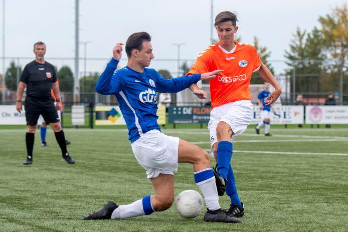 Archiefbeeld uit het duel Elistha-SC Valburg. De Elstenaren wonnen zaterdag van Kesteren, SC Valburg verloor van Echteld.