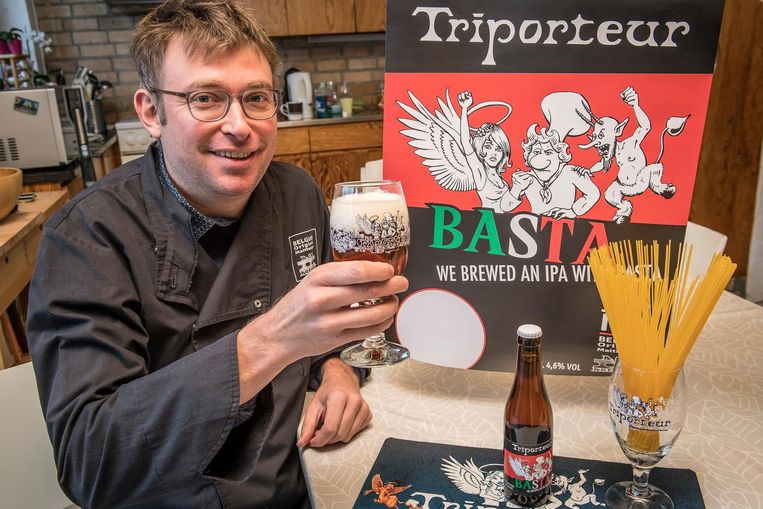 Bert Van Hecke van BOM Brewery lanceert een nieuw bier: de Triporteur Basta.