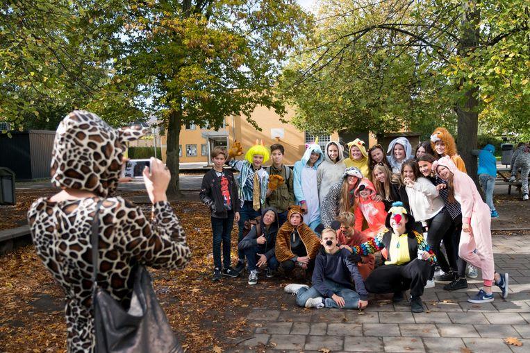 De leerlingen van Campus Caputsteen kwamen verkleed als dieren naar school.