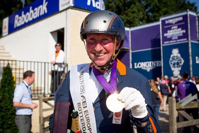 Frank Hosmar, vorig jaar zomer na zijn zilveren medaille op het EK in Rotterdam.