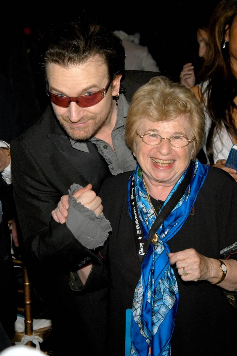 Ruth Westheimer met Bono Vox