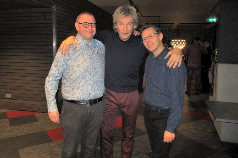 Peter De Lepeleer (links) en Mario Heymans (rechts) zijn te gast in de Nederlandse show van Matthijs van Nieuwkerk.