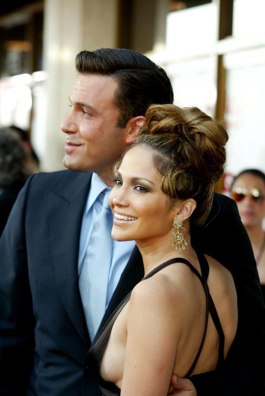 Jennifer Lopez en Ben Affleck tijdens de première van de film 'Gigli'. Beeld afp