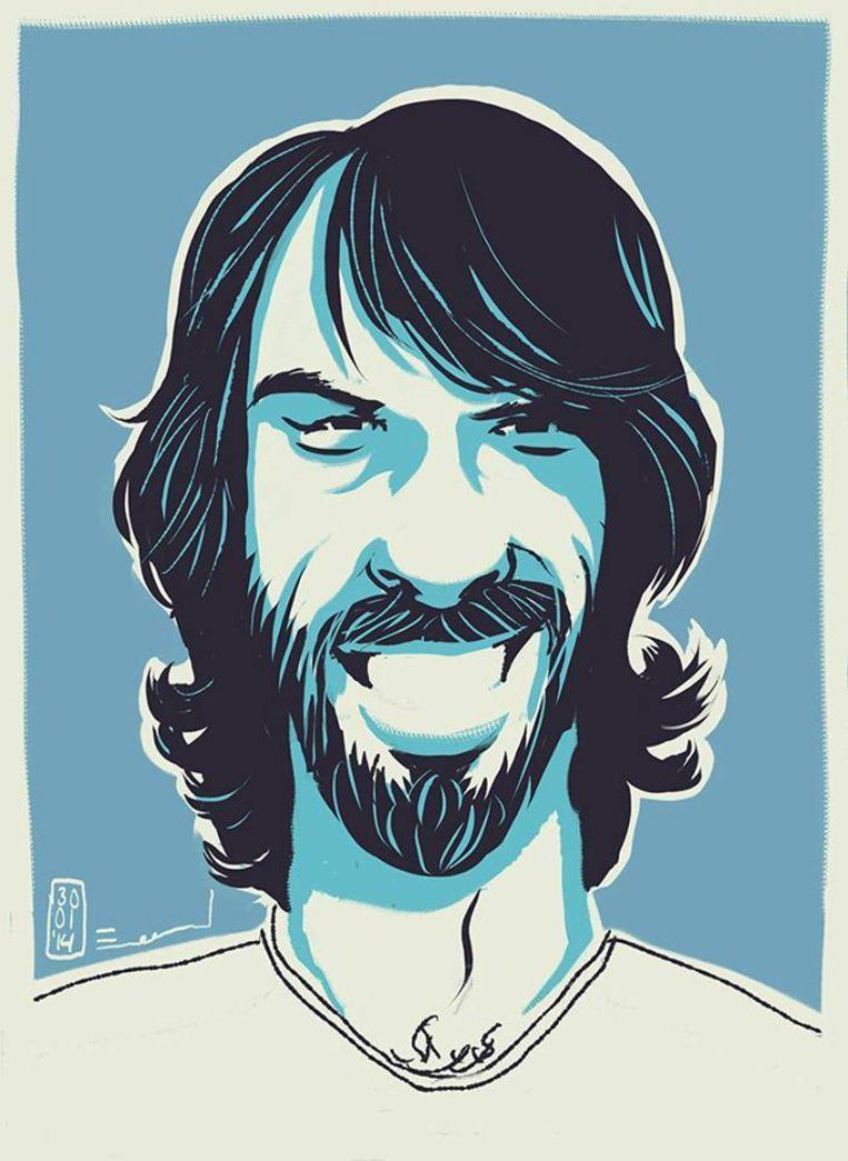 Zelfportret van de illustrator. Beeld Emanuel Wiemans