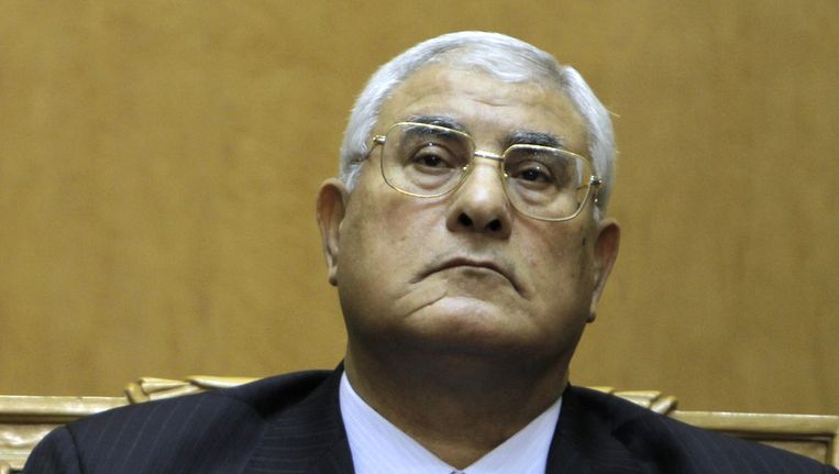 De interim-president van Egype, Adly Mansour Beeld ap