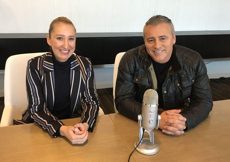 Matt LeBlanc met onze Hollywood-reporter Kristien bij CBS Studios voor de podcast 'HFPA In Conversation'