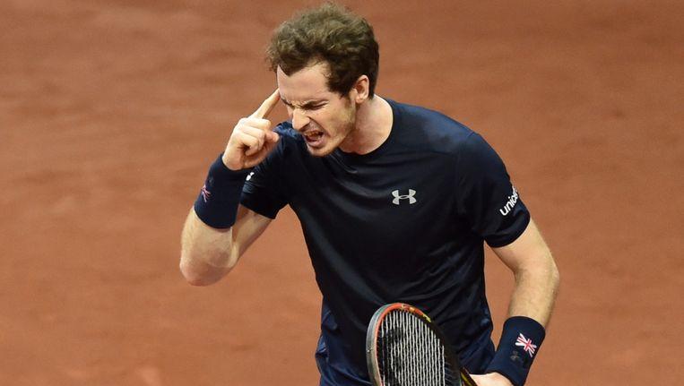 Murray beslissend in de Davis Cup. Beeld afp