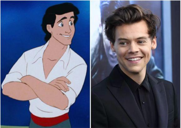 Harry Styles zal dan toch niet prins Eric spelen.