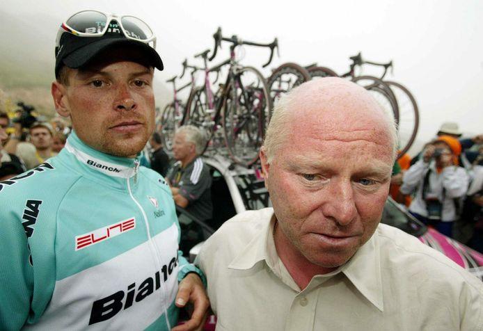 Jan Ullrich et Rudy Pevenage.