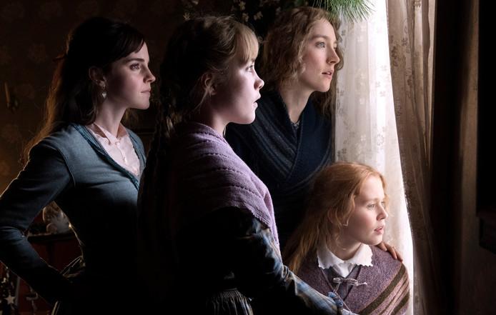 Emma Watson, Saoirse Ronan, Eliza Scanlen en Florence Pugh in Little Women