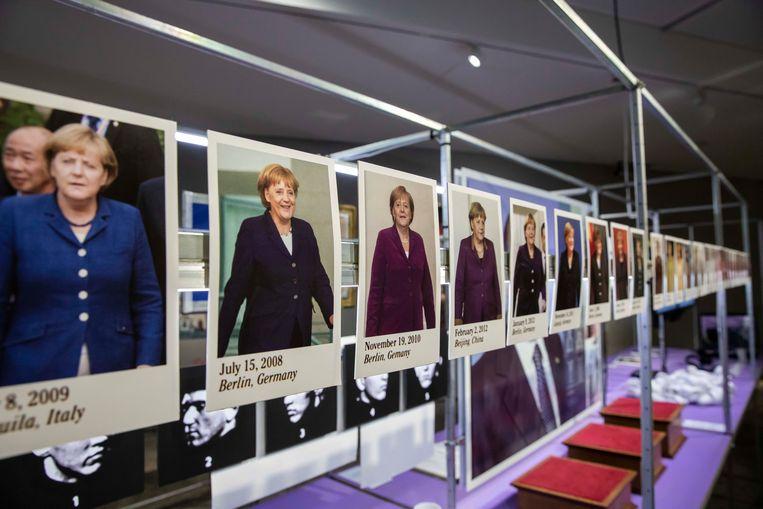 In de Designexpo in C-Mine is er een prominente rol voor de Duitse kanselier Angela Merkel. Of hoe design en politiek met elkaar verweven zijn.