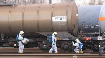 Chemisch lek aan treinwagon