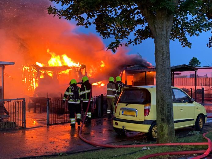 Brand uitgebroken op Camping Heerewaarden
