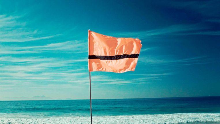Refugee Nation Flag van kunstenaar Yara Said, in mei in het Stedelijk Museum Beeld Angela Luna