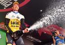 Primoz Roglic wint de tijdrit in de Giro, zijn eerste grote zege.