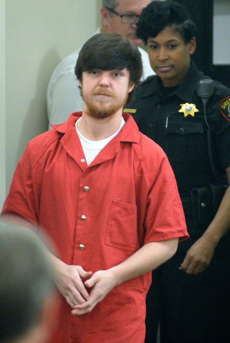 Ethan Couch in april 2016, bij zijn veroordeling omdat hij zijn probatievoorwaarden schond.