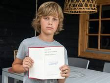 Pijnlijk: stempel 'afgevoerd' in dagboek van Anne Frank