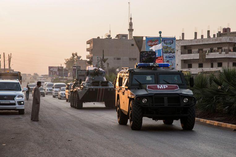 """De militaire politieagenten en hun panstervoertuigen moeten er """"speciale operaties"""" uitvoeren."""
