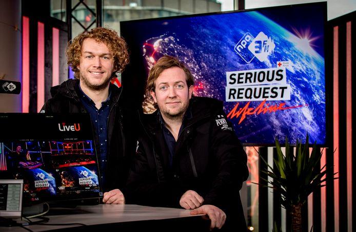 3FM-dj Rámon Verkoeijen (rechts)