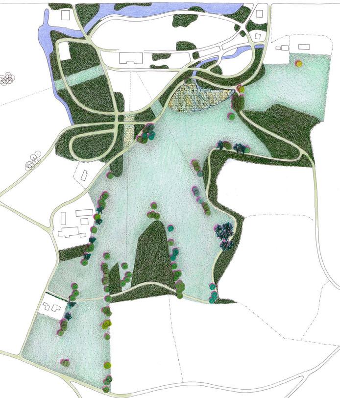Landschapsarchitect Michael van Gessel maakt een ontwerp voor het landgoed.