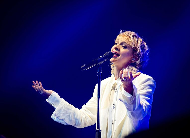 Zangeres Jacqueline Govaert tijdens de show van Krezip in de Ziggo Dome. Beeld ANP