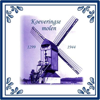 Deze tegeltjes zijn van de Koeveringse molen zijn te koop.
