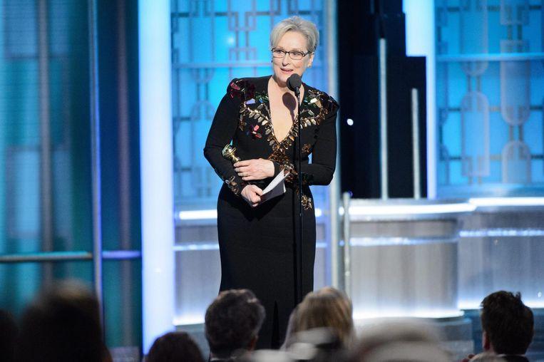 Meryl Streep speecht bij de Golden Globes. Beeld epa