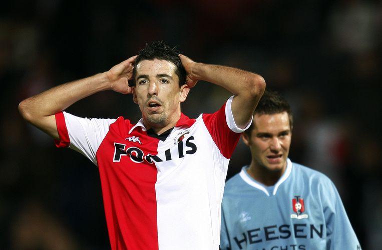 Makaay bevrijdde Feyenoord door in de verlenging 1-0 te maken. Foto ANP/Robert Vos Beeld
