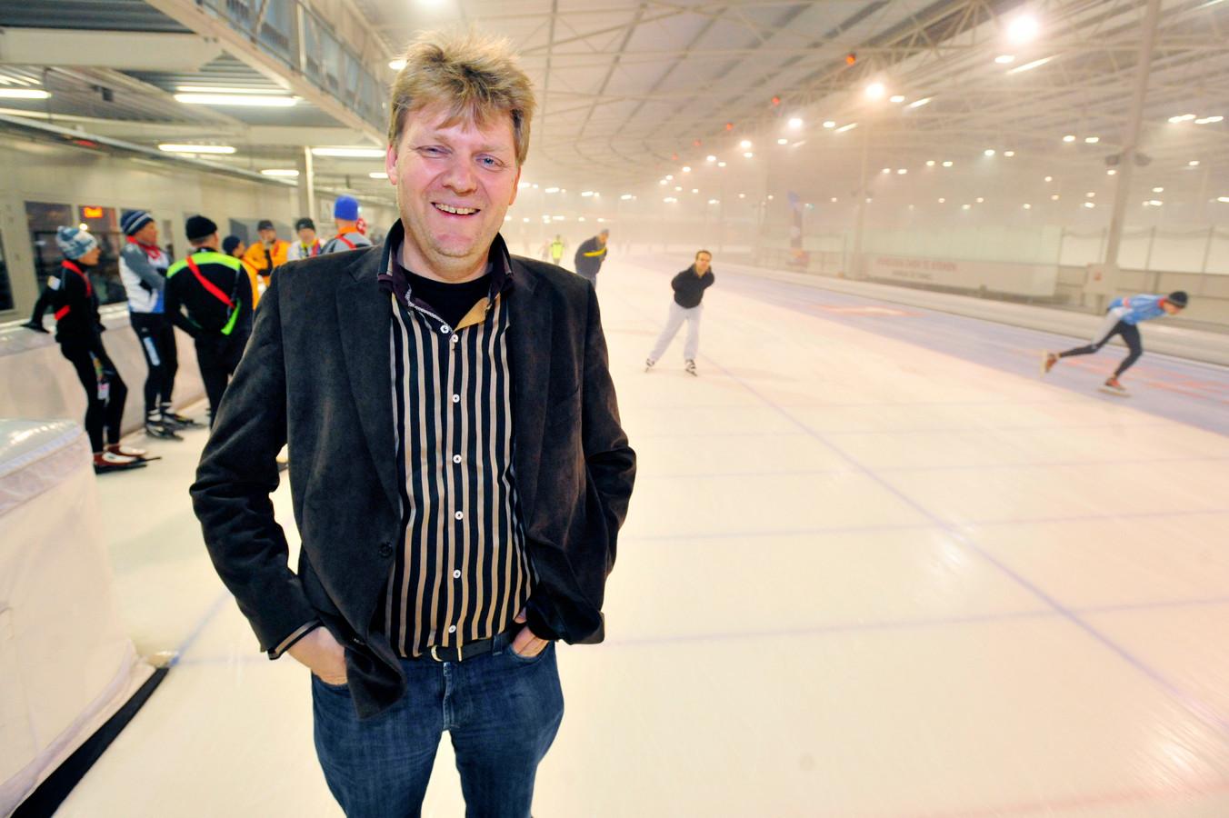 Jan Hamming in een Tilburgse sporthal voordat hij vertrok naar Heusden.