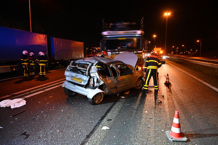 Ongeluk op A58 bij Etten-Leur