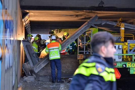Hulpverlening na het incident in Duiven.