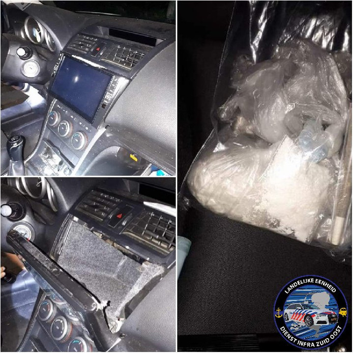 Drugs gevonden in verborgen ruimte van auto bij controle in Eersel