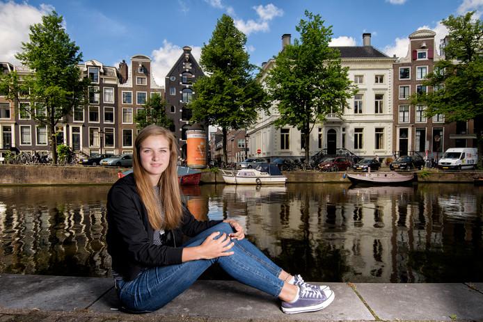 Charlotte van Kleef in Amsterdam, waar ze woonde en speelde voor vertrek naar Australië.