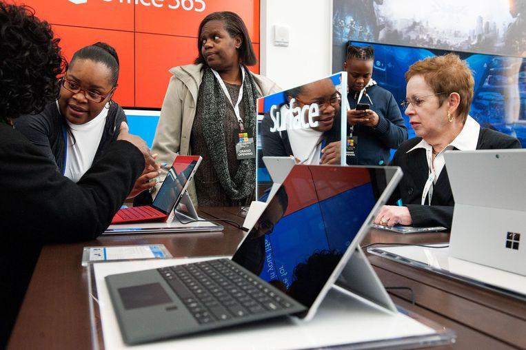 Microsoft Surface Pro 4. Beeld afp