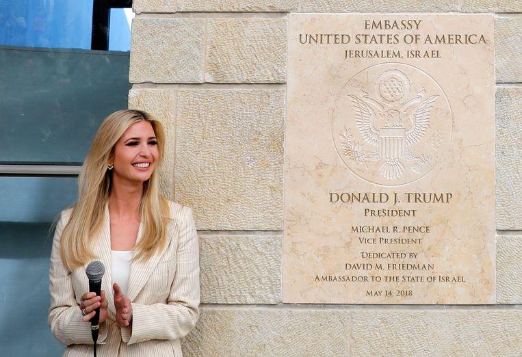 Trumps dochter Ivanka opende op 14 mei de omstreden Amerikaanse ambassade in Jeruzalem.