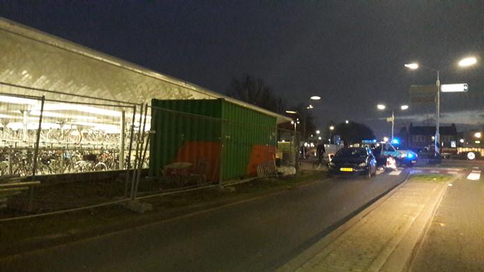 Het ongeluk op de nieuwe oversteekplek voor fietsers en voetgangers bij het vernieuwde NS-station in Wijchen.